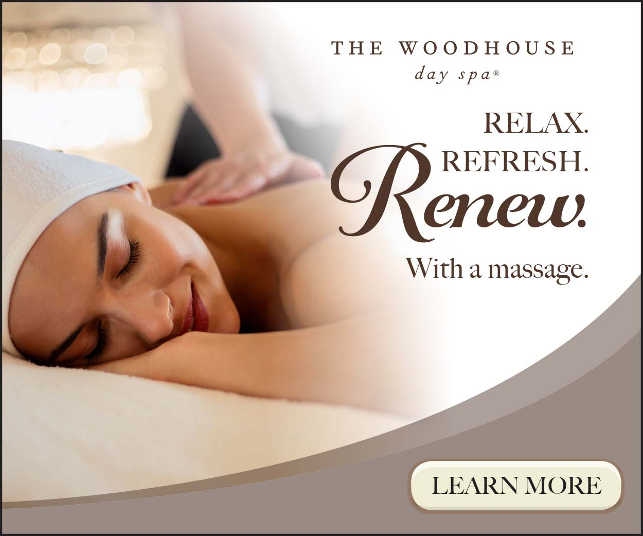 Woodhouse Day Spa digital advertisement