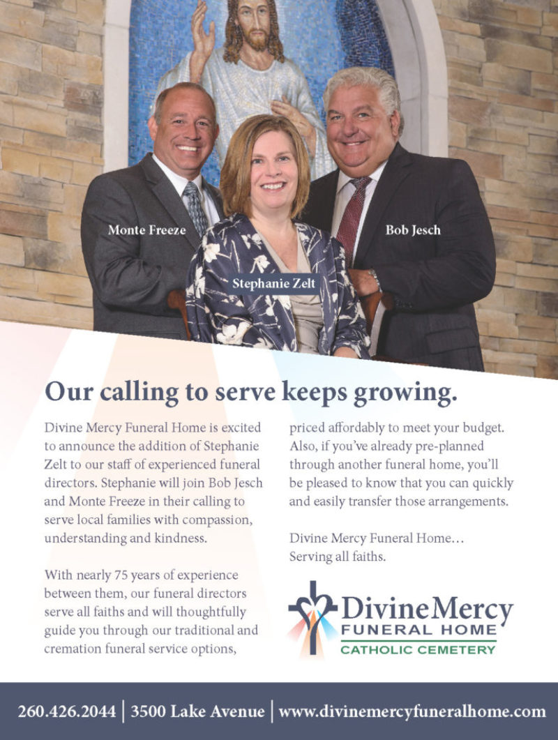 Divine Mercy Funeral Home promotional ad by Patterson Riegel