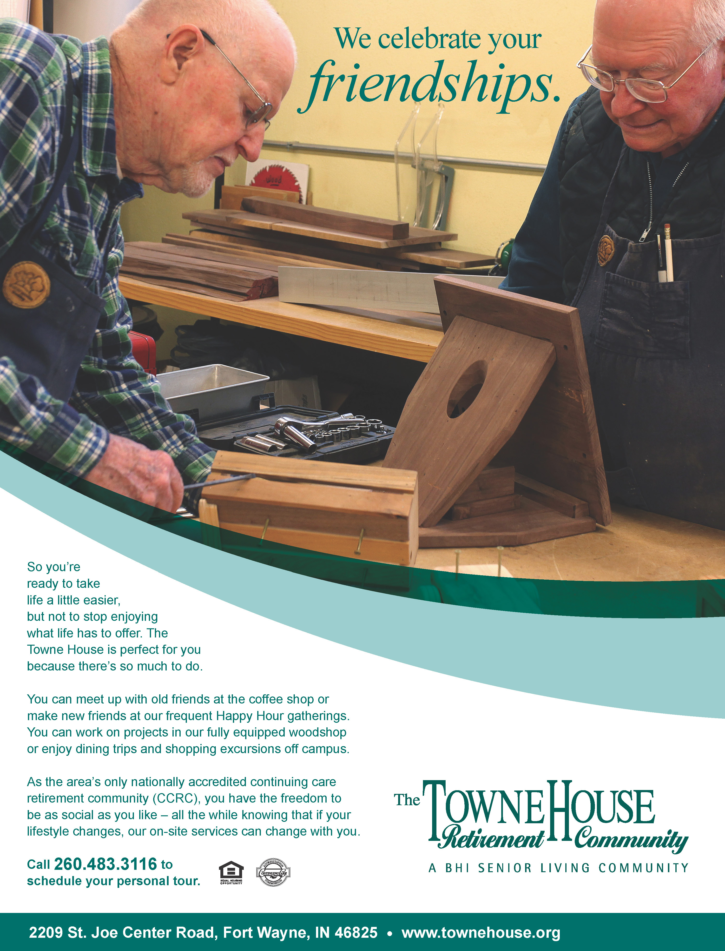 Towne House print ad by Patterson Riegel