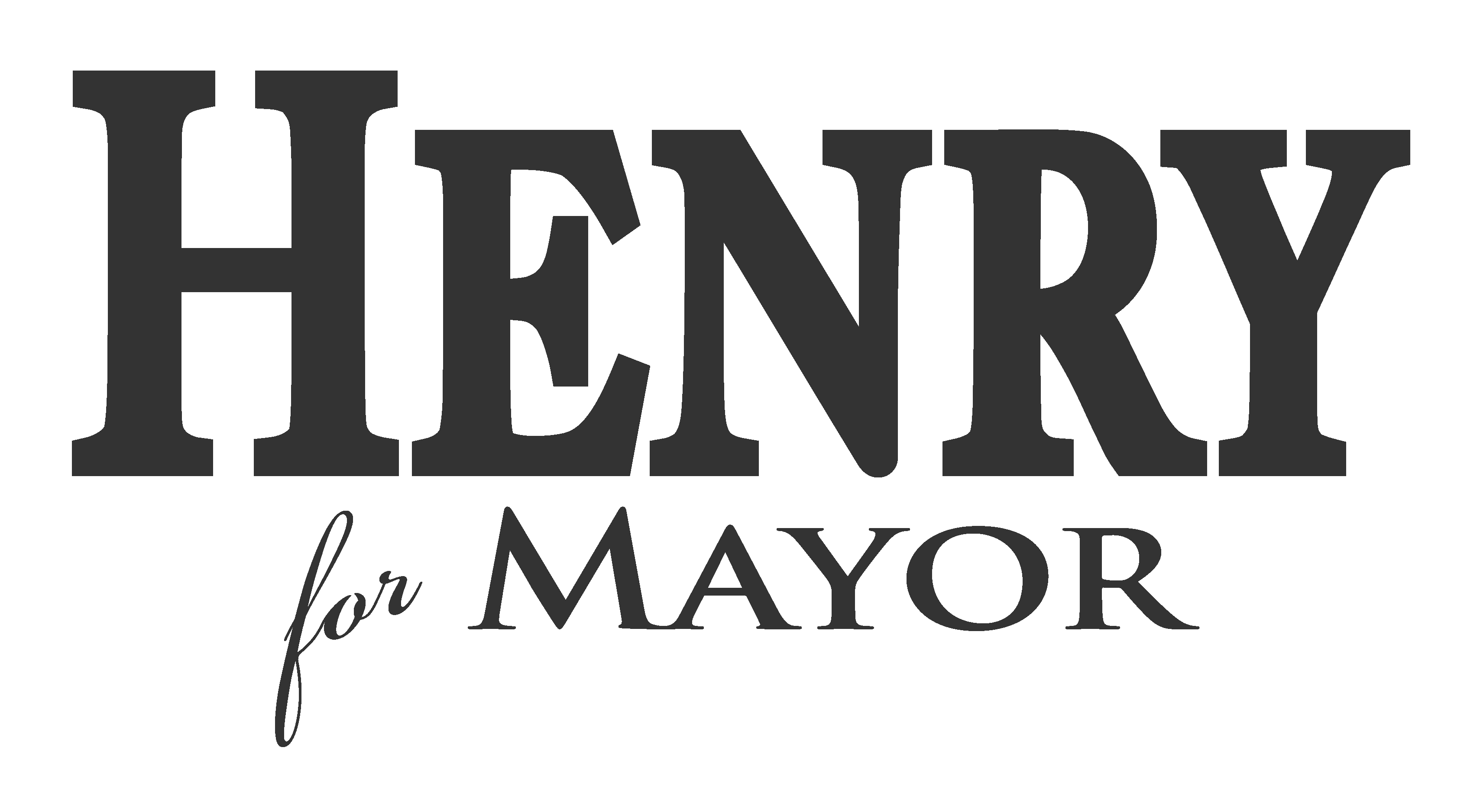 Henry For Mayor black and white logo