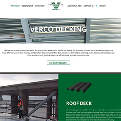 Verco Decking website preview